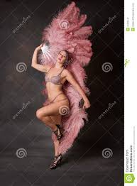 burlesque fans burlesque dancer with feather fans stock photo image 47226747