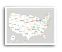 Ohio Usa Map by Usa Map In Light Grey U2013 Kindred Sol Collective