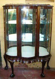 Glass Display Cabinet Perth Mahogany Serpentine Bow Front Display Cabinet Display Cabinets