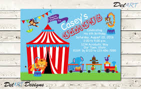 circus or carnival theme invitations or save the date
