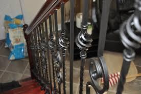 nautilu scroll wrought iron baluster installed richmond virginium