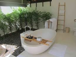 bathroom beautiful open natural bathroom design with plants