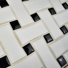 somertile fdxmbwwb retro basket weave glazed porcelain mosaic
