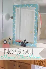 mirror tiles for bathroom no grout mosaic tile mirror the diy village