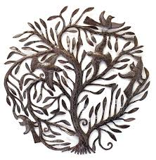 family tree of life large outdoor wall art sculpture recycled
