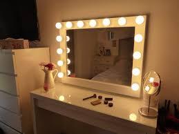 vanity lighted vanity mirror table vanity hollywood mirror