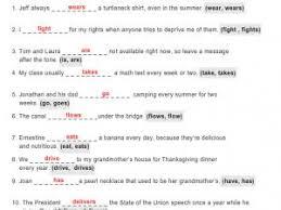 simple present tense worksheet grade 3 pdf par papiercrayon