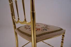 Chivari Chair Italian Chiavari Brass Chair With A Needle Point Seat U0026 A High