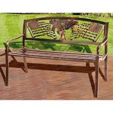 r a guthrie solid metal freedom bench 199836 patio furniture