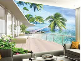 3d Wallpaper For Living Room by High Quality Costom Villa Balcony Landscape Tv Wall Background