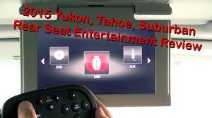 lexus gx vs gmc yukon denali 2015 gmc yukon chevy tahoe suburban rear seat entertainment system
