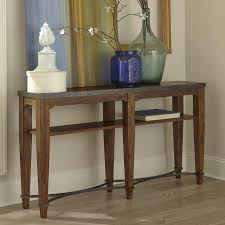 End Table With Shelves by Ginkgo Sofa Table With Shelf And Metal Accents By Trisha Yearwood