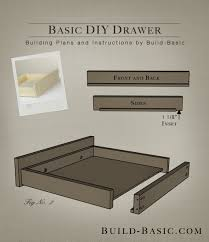 how to build a table with drawers build a basic diy drawer build basic