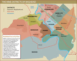Baghdad World Map by Baghdad City Districts Institute For The Study Of War