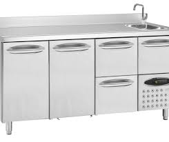 costco kitchen furniture sink stainless steel prep table refrigerated l0 profi mercatus