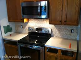 Tile Backsplash In Kitchen Split Face Travertine Tile Backsplash The Diy Village