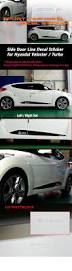subaru side decal side door line guard decal sticker mask for hyundai 2011 2017