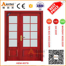 Double Swing Unequal Double Swing Wood Saloon Interior Frosted Glass Door Buy