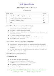 class 11 philosophy syllabus cbse education news