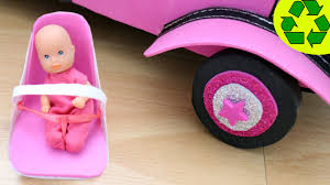 barbie cars with back seats how to make a baby car seat for your doll u0027s baby easy doll