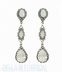 Chandelier Earings Haute Swarovski Opal Chandelier Earrings Bridal Earrings