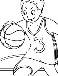 basketball player coloring page top coloring pages girls