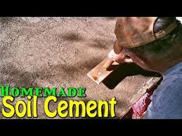 Sand Cement Mix For Patio Soil Cement Simple U0026 Cheap Home Application Homemade Youtube