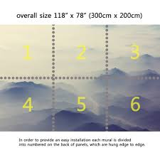 wall mural foggy mountains silhouette fabric wallpaper for wall mural foggy mountains silhouette fabric wallpaper for interior home decor