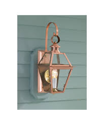 Copper Outdoor Light Fixtures Norwell 2253 Colony Copper 10 Inch Wide 1 Light Outdoor Wall