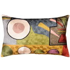 Contemporary Throw Pillows For Sofa by Lumbar Kandinsky Soul Flood Decorative Pillow Cover Silk Hand