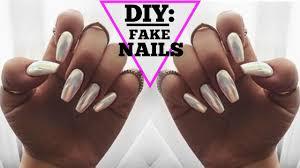 diy easy fake nails at home no acrylic youtube