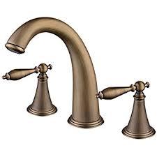 senlesen bathroom widespread basin sink faucet deck mounted three