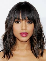 blunt fringe hairstyles layered haircut with blunt bangs getty images 2017
