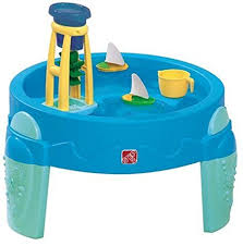 step 2 plastic train table amazon com step2 waterwheel activity play table toys games