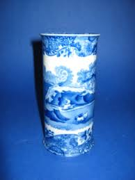 Spode Vases Vintage Copeland Spode Blue Italian Spill Vase Rare Antique