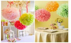 New Year Paper Decorations by 15pcs Lot 16 U2033 40cm Tissue Paper Pompoms Paper Flowers Ball New