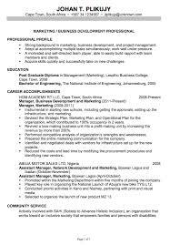 chronological resume sample marketing business development resume