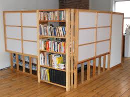 open shelving room divider