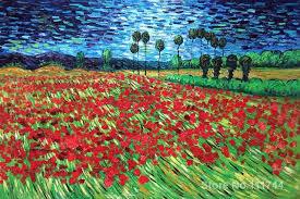 van gogh bedroom painting famous art for bedroom field of poppies vincent van gogh paintings