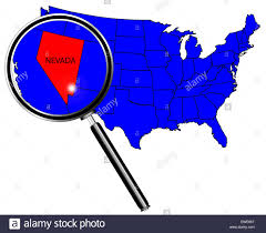 Outline Of United States Map by Nevada State Outline Set Into A Map Of The United States Of