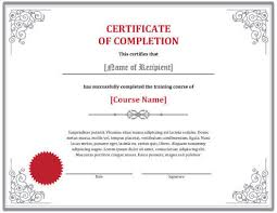 certificate of completion free template word training completion certificate template gse bookbinder co