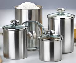 stainless steel kitchen canister set chef s 4 pc stainless steel canister set half a home 66