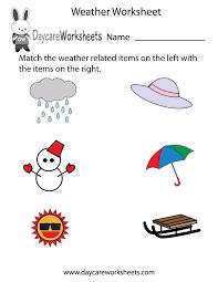 Kindergarten Weather Worksheets Free Preschool Weather Worksheet