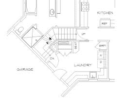 basement stair location of mascord plan b1248 the ripley house
