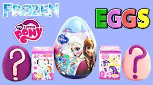 easter egg surprises new frozen easter eggs 2015 my pony disney