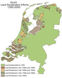 netherlands map land reclamation in the netherlands 1300 vs 2000 brilliant maps