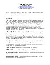 Music Producer Resume Examples by Resume Video Producer Resume