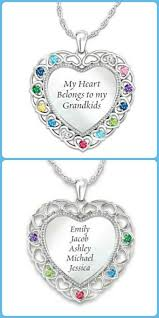 grandparent jewelry gifts birthstone necklace 15 necklaces grandmother will