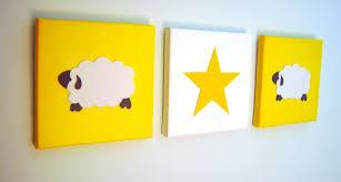 tableau pour chambre bébé decoration triptyque bebe hibou peinture garcon une modele tableaux