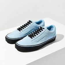 light blue vans shoes vans shoes x uo old skool light sky blue w black sole poshmark